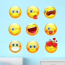 Wall Emoji Mural Smiling