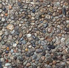 Pebble Stone Floor Tile Texture And Seamless Background Stock Photo
