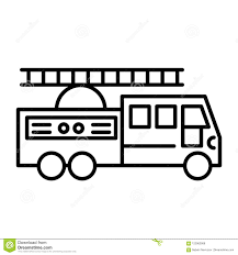 Fire Truck With Ladder Line Icon. Vector Illustration Isolated On ... Firetruck Clipart Free Download Clip Art Carwad Net Free Animated Fire Truck Outline On Red Neon Drawing Stock Illustration 146171330 Engine Thin Line Icon Vector Royalty Coloring Page And Glyph Car With Ladder Fireman Flame Departmentset Colouring Pages Trucks Printable Lineart Of A Cartoon Black And White With Linear Style Sign For Mobile Concept Truck Icon Outline Style Image Set Collection Icons