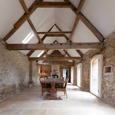 100 Rustic Ceiling Beams Exposed Beam Vaulted Dining Room With Wood Half