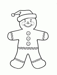 Free Coloring Pages Gingerbread Boy