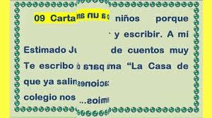 09 Carta De Un Niño A Un Amigo YouTube