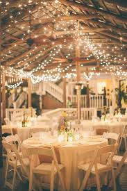 Country Wedding Reception Ideas Burlap For The Table Runners And Xmas Lights All Over