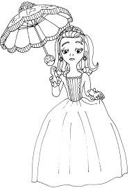 Sofia The First Coloring Pages Amber Page