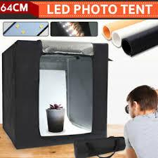 104 Studio Tent 64cm Portable Photo Led Light Bar Cube Soft Box Room Photography Kit Ebay