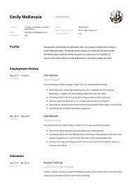 Sample Resume For Hairstylist Hairdresser Button Salon Spa Receptionist