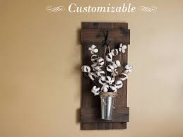 Cotton Stem Decor Rustic Wall Hanging Wooden