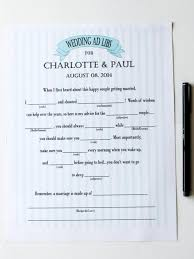 Halloween Mad Libs For 5th Graders by Free Printable Ad Libs For Wedding Showers Diy