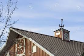 Red Barn Roof Made Out Of Metal With Weather Vane On Top Stock ... Collage Illustrating A Rooster On Top Of Barn Roof Stock Photo Top The Rock Branson Mo Restaurant Arnies Barn Horse Weather Vane On Of Image 36921867 Owl Captive Taken In Profile Looking At Camera Perched Allstate Tour West 2017iowa Foundation 83 Clip Art Free Clipart White Wedding Brianna Jeff Kristen Vota Photography Windcock 374120752 Shutterstock Weathervane Cupola Old Royalty 75 Gibbet Hill