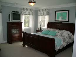 Bedroom With Black And White Toile Tiffany Box Blue Accents The Wall Color Is A Pale Gray Lots Of Undertones