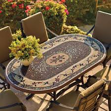 mosaic dining table mosaic table for attractive centre of