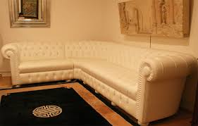 canap chesterfield angle grand canapé d angle chesterfield en cuir blanc 4897 longfield