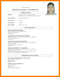 Curriculum Vitae Sample Philippinesresume Examples Philippines College Student Resume Format Pdf Teacher 75891072
