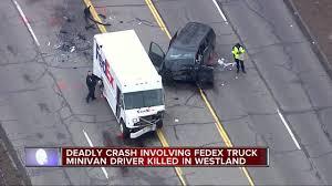 100 Fedex Truck Accident Driver Killed In Westland Crash Involving FedEx Truck