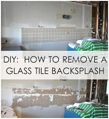 Glass Tiles For Backsplash by Diy How To Remove A Glass Tile Backsplash House Updated