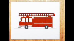 99 How To Draw A Fire Truck Step By Step To Draw Fire Truck YouTube