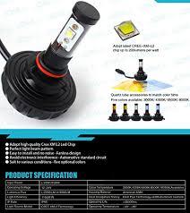 jdm astar 4s 9005 cree xm l2 all in one led headlights 4400 lumens