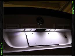 pmlit 10 13 audi tt frozen white led license plate light bulbs kit