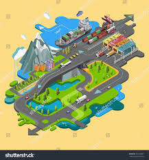 100 Truck Loading Games Isometric Delivery Cargo Railway Maritime Stock Vector