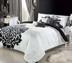 Lush Decor Belle 4 Piece Comforter Set by Blue Black And White Bedding Beautiful Pictures Photos Of