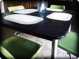 My $6 Kitchen Table and Chairs Spray painted furniture from Odd