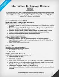 Information Technology IT Resume Example