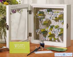 Unique Guest Book Alternatives Country Charm Rustic Wooden Wish Box