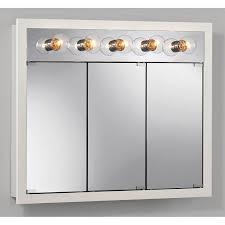 medicine cabinet granville tri view 3 light 24w x 30h in