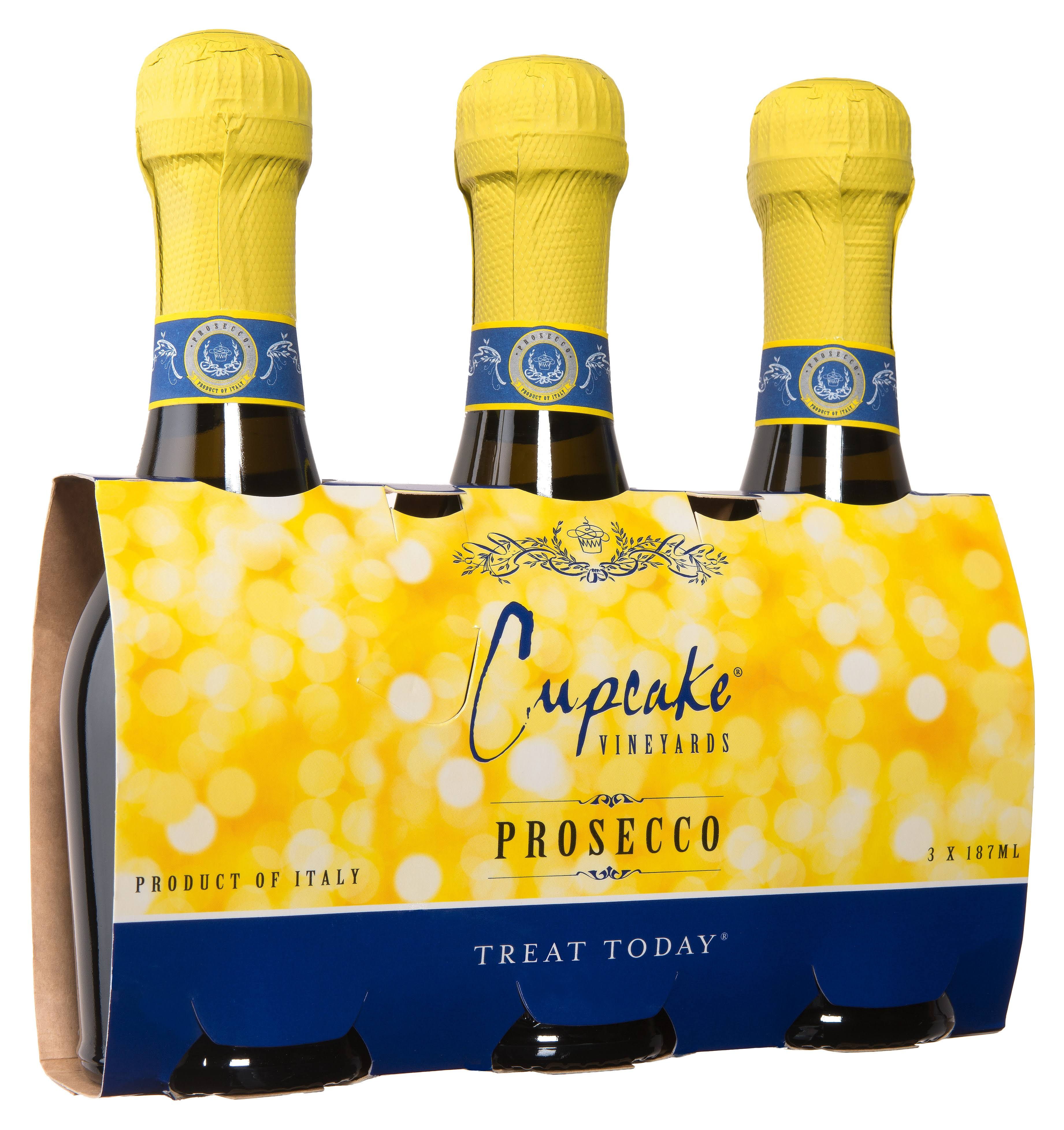 Cupcake Prosecco - 3 pack, 187 ml bottles