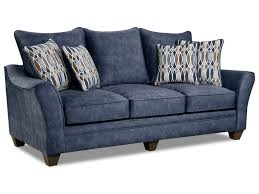 American Furniture 3850 3853 Athena Navy Elegant Sofa with