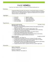 Resume Templates Social Work Behavior Specialist Services Emphasis Archaicawful Format Curriculum Vitae Examples 2018 480
