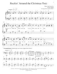 Rockin Around The Christmas Tree Chords Pdf by Sheet Music Digital Files To Print Licensed Educational Piano