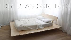 100 Projects Contemporary Furniture DIY Platform Bed Modern DIY From HomeMade