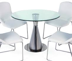 Ikea Dining Table And Chairs Glass by Furniture Simple And Neat Decorating Ideas Using Rounded Glass