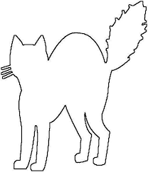 Bold Design Halloween Cat Coloring Page Happy Pages