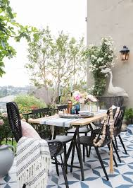 Outdoor Dining Furniture Roundup - Emily Henderson Marvelous Brown Woven Patio Chairs Remarkable Plastic Delightful Wicker Folding Fniture Resin Best Bunnings Outdoor Black Lowes Ding French Caf 3pc Bistro Set Graywhite Target Stackable Metal Buy All Weather Gray Cozy Lounge Chair For Exciting Gorgeous Designer Home Depot Clearance Grey 5piece Chairsplastic Marvellous Modern Beautiful Yard Winsome Surprising