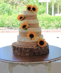 Sunflower Rustic Wedding Cake Cupcakes