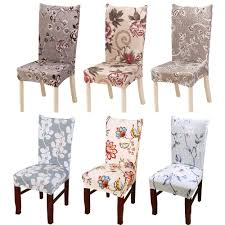 Modern Floral Pattern Spandex Elastic Chair Covers Dining Room Seat ... Pin By Lynne Bourn On Wedding In 2019 Chair Decorations Ding Room Chair Covers Sew Or Staple Craft Buds Slipcover For Sure Fit Soft Suede Shorty How To Make Diy High Cover Tutorial Mary Martha Chairs Black Childrens Patterns Sofas Purple Dani Pillows And Throws Seat Table Grey Parson Fniture Wingback Pattern Design Stretch Stool Protectors M Rocking Covers Current Teresting Modest Cover Pattern Rowico Lulworth Beige Loose Striped Linen White Adorable Teal Kitchen 2018 European Floral
