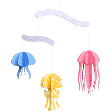 canon papercraft jelly fish mobile free paper toy download