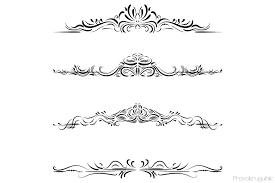 Elegant Text Divider Clipart Flourish Swirl Border Clip Art Wedding Frames Set By Pravokrugulnik