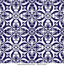 floor tiles pattern vector blue white stock vector 603711509
