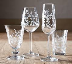 Etched Tumbler Glass Set of 4