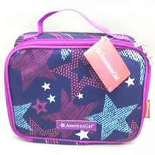 Image Is Loading American Girl Lunch Bag Purple Navy Blue Pink