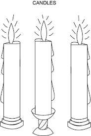 Birthday Candle Coloring Page Three Candle Coloring Pages