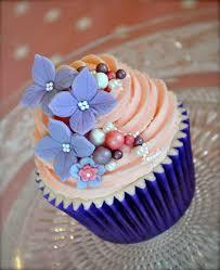 Gorgeous Blue And Peach Cupcakes