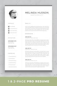 Professional Resume Template Set With One-page And Two-page ... Free Simple Professional Resume Cv Design Template For Modern Word Editable Job 2019 20 College Students Interns Fresh Graduates Professionals Clean R17 Sophia Keys For Pages Minimalist Design Matching Cover Letter References Writing Create Professional Attractive Resume Or Cv By Application 1920 13 Page And Creative Fully Ms