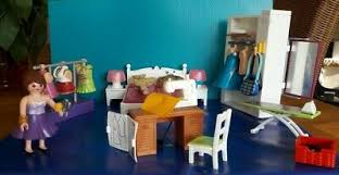 playmobil konstruktions spielset schlafzimmer mit nähecke