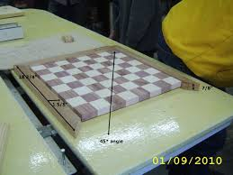 Chess And Checker Game Board With Player Pieces