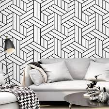 tapete hitam putih hintergrund wand wohnzimmer muster zimmer