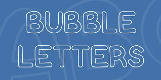 Bubble Letters Font · 1001 Fonts